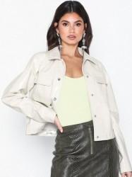 NLY Trend Cropped Detailed Jacket Læderjakker