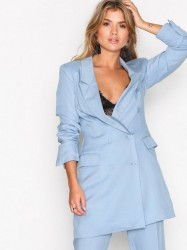 NLY Trend Double Up Blazer Blazere Lyse Blå