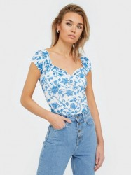 NLY Trend Flirty Print Top Toppe