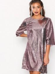 NLY Trend Hang Loose Sequin Dress Pailletkjoler Rosa/Lyserød