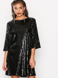 NLY Trend Hang Loose Sequin Dress Pailletkjoler Sort