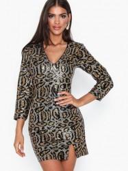 NLY Trend Leo Glam Sequin Dress Pailletkjoler