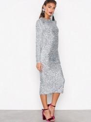 NLY Trend Midi Sequin Dress Pailletkjoler Sølv