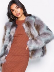 NLY Trend Multi Fur Jacket Faux Fur Multi