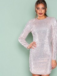 NLY Trend Power Sequin Dress Pailletkjoler Champagne