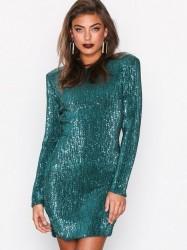 NLY Trend Power Sequin Dress Pailletkjoler Grøn