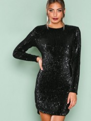 NLY Trend Power Sequin Dress Pailletkjoler Sort