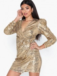 NLY Trend Puffy Power Sequin Dress Pailletkjoler