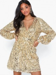 NLY Trend Puffy Sleeve Sequin Dress Pailletkjoler