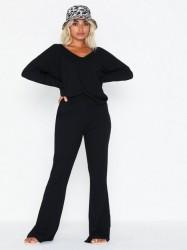 NLY Trend Rib Shoulder Set Jumpsuits