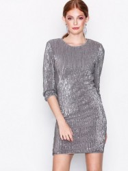 NLY Trend Sequin Power Dress Pailletkjoler Sølv