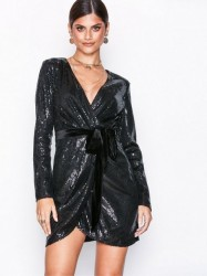 NLY Trend Sequin Sparkle Dress Pailletkjoler Sort