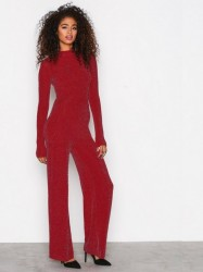 NLY Trend Sparkling Polo Jumpsuit Jumpsuits Rød