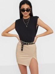 NLY Trend Structure Pu Mini Skirt Mini nederdele