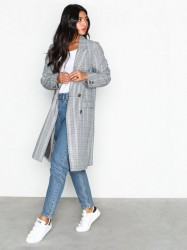NLY Trend The It Check Coat Frakker Ternet