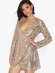 NLY Trend Wrap Sequin Dress Pailletkjoler