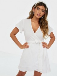 NLY Trend Wrapped Frill Dress Skater kjoler