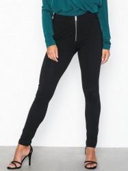 NLY Trend Zipper Leggings Leggings Sort