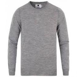 NN07 Charles Merino Wool Pullover Grey Melange