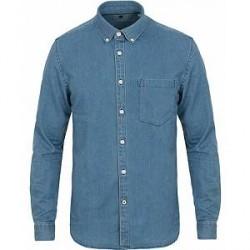 NN07 Falk 5849 Denim Shirt Dark Washed Blue