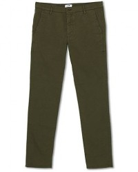 NN07 Joe Skinny Fit Stretch Chinos Army Green men W30L34 Grøn