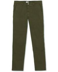 NN07 Marco Slim Fit Stretch Chinos Army Green men W34L32 Grøn