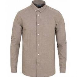 NN07 Sixten 5722 Flannel Shirt Khaki Melange