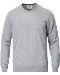 NN07 Ted Extra Fine Merino Crew Neck Pullover Medium Grey men L Grå