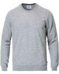 NN07 Ted Extra Fine Merino Crew Neck Pullover Medium Grey men S Grå