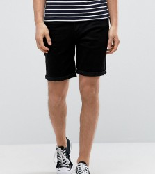 NOAK Denim Shorts In Slim Black - Black