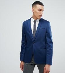 Noak Skinny Blazer in Cotton Sateen - Navy