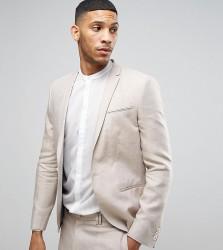 Noak Skinny Blazer In Linen - Beige