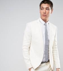 Noak Skinny Blazer In Linen - White