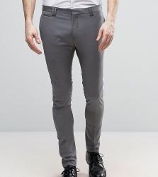 Noak Skinny Cropped Trousers - Grey