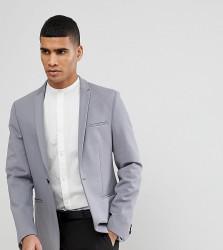 Noak Skinny Jersey Blazer - Grey