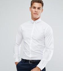 Noak Skinny Shirt With Bluff Collar - White