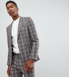 Noak skinny suit jacket in check - Pink
