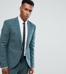 Noak Skinny Suit Jacket In Fleck - Green
