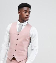 Noak Skinny Suit Waistcoat - Pink