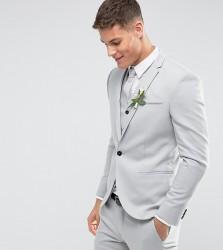 Noak Skinny Wedding Suit Jacket in Pale Grey - Grey