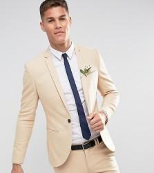 Noak Skinny Wedding Suit Jacket in Stone - Stone