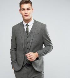 Noak Slim Suit Jacket In Fleck Wool - Green