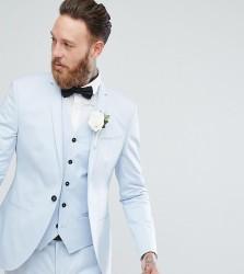 Noak Slim Wedding Suit Jacket in Ice Blue - Blue
