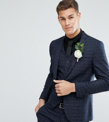 Noak Slim Wedding Suit Jacket in Texture - Navy