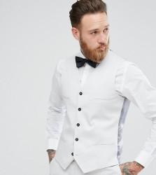 Noak Slim Wedding Waistcoat in Grey - Grey