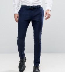 Noak Super Skinny Smart Trouser In Navy - Navy