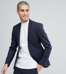 Noak Super Skinny Suit Jacket In Fleck - Navy