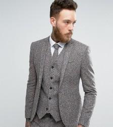 Noak Super Skinny Suit Jacket In Fleck Wool - Grey