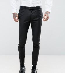Noak Super Skinny Suit Trouser in Black - Black