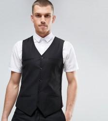Noak Super Skinny Suit Waistcoat - Black